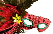 picture of mardi gras mask  - isolated shot of a brightly colored masquerade or mardi gras mask