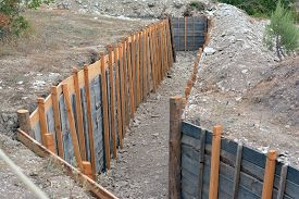 stock photo of reconstruction  - Reconstructed trenches at the historic festival in Sevastopol - JPG