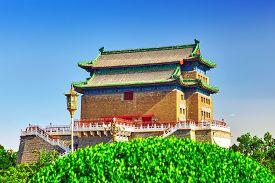 stock photo of gate  - Beautiful Zhengyangmen Gate  - JPG