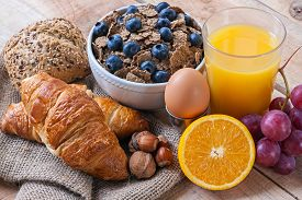 picture of continental food  - a continental breakfast  - JPG