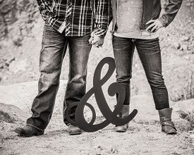 picture of ampersand  - boots and jeans man and woman with ampersand - JPG