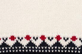 pic of motif  - Close up on winter motif knit woolen texture - JPG