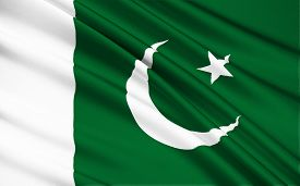 foto of pakistani flag  - The national flag of Pakistan was adopted in its present form during a meeting of the Constituent Assembly on August 11 1947 three days before the countrys independence when it became the official flag of the Dominion of Pakistan - JPG