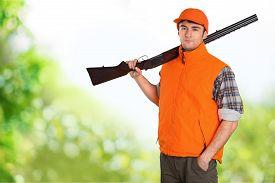 picture of shotgun  - Hunting Hunter Men Game Shooting Hat Field Shotgun - JPG