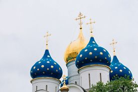 pic of trinity  - Domes cupolas of the Dormition  - JPG