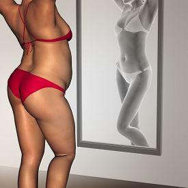 image of emaciated  - Concept or conceptual 3D woman - JPG