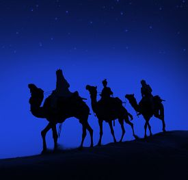 image of wise  - Three Wise Men Camel Travel Desert Bethlehem Concept - JPG