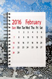 pic of february  - calendar for the month of February on background - JPG