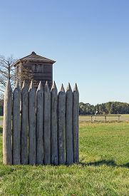 picture of reconstruction  - Reconstructed Limes watch tower at Vielbrunn  - JPG