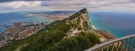 stock photo of gibraltar  - Amazing Vista from the top of the Rock of Gibraltar - JPG