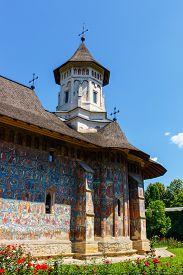 picture of suceava  - The Moldovita Monastery is a Romanian Orthodox monastery situated in the commune of Vatra Moldovitei Suceava County Moldavia Romania - JPG