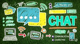 image of chat  - Chat Chatting Communication Social Media Internet Concept - JPG