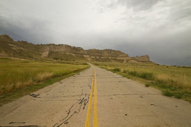 picture of western nebraska  - A scenic highway in the hills of western Nebraska - JPG
