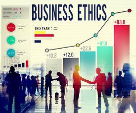 stock photo of philosophy  - Business Ethnics Philosophy Responsibility Honesty Concept - JPG