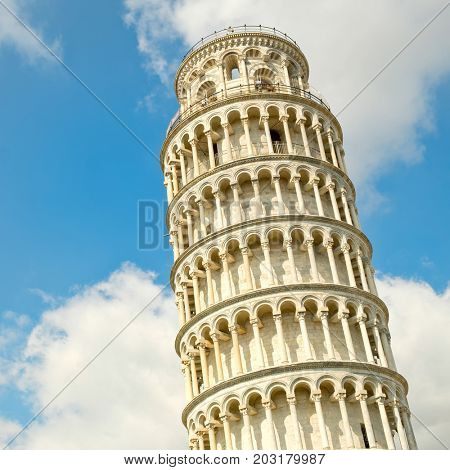 poster of The leaning tower of Pisa, a symbol of Italy