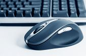 Wireless computer mouse and keyboard