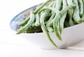 foto of green bean  - bowl of fresh green beans - JPG