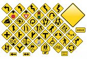 stock photo of road sign  - Road Sign Set  - JPG