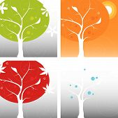 picture of air conditioning  - Stylized Four Seasons Icon Set easy - JPG