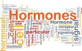 stock photo of hormone  - Background concept wordcloud illustration of Hormones hormonal signal - JPG