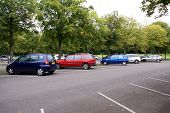 stock photo of parking lot  - cars parking in parking lot - JPG