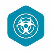 Sign Of Biological Threat Icon. Simple Illustration Of Sign Of Biological Threat Vector Icon For Web poster