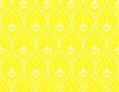 Wallpaper In The Style Of Baroque. Seamless Background. White And Yellow Floral Ornament. Graphic Pa poster