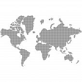 World Map Made Black Dots South Nourth East West Globe Of World Earth Europe America With Dots Eps 1 poster