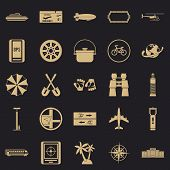 Voyage Icons Set. Simple Set Of 25 Voyage Vector Icons For Web For Any Design poster