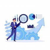 Data Scientist, Analytical Data Expert Manage The Finance Data In The Industry. Successful Managemen poster