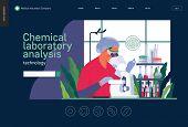 Medical Tests Template -chemical Laboratory Analysis - Modern Flat Vector Concept Digital Illustrati poster