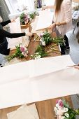 Education In The School Of Floristry. Master Class On Making Bouquets. Summer Bouquet. Learning Flow poster