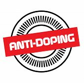Anti-doping Stamp On White Background. Stickers Labels And Stamps Series. poster