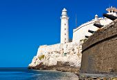 foto of el morro castle  - The famous castle and lighthouse of El Morro - JPG