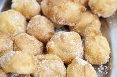 picture of lent  - Closeup of delicious fritters with sugar lent