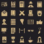 Writer Icons Set. Simple Set Of 25 Writer Vector Icons For Web For Any Design poster