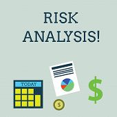 Conceptual Hand Writing Showing Risk Analysis. Business Photo Showcasing Review Of The Risks Associa poster
