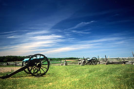 pic of rebs  - Napoleon artillery battery near the Angle Civil War battlefield Gettysburg National Battlefield Park Pennsylvania  - JPG