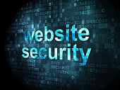 Security concept: website security on digital background