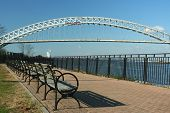 foto of faber  - Bayonne bridge photo taken from Faber park on staten island - JPG