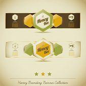Honey Branding Banner Collection poster