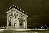 image of charles de gaulle  - Arc de triomphe Charles de Gaulle square Paris France - JPG