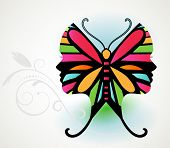 stock photo of enticing  - Butterfly illusion   - JPG