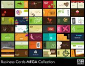 Mega collection of 42 abstract professional and designer business cards or visiting cards on differe