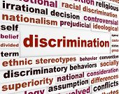 stock photo of racial discrimination  - Discrimination social issue concept - JPG