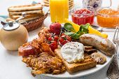 stock photo of hash  - Traditional Manhattan Brunch - JPG