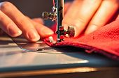 stock photo of tailoring  - Sewing Process  - JPG