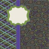 Tartan And Paisley In Mens Design Template,artwork