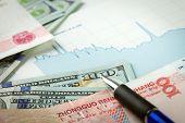 foto of yuan  - US dollar versus China Yuan exchange rate - JPG