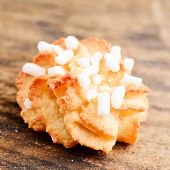 Almond pastry with sugar